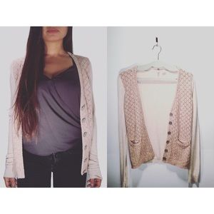 Anthropologie Moth|Knitted Kay Blush Pink Cardigan